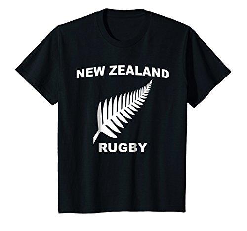 Kids New Zealand Rugby Jersey Tee Shirt 12 Black