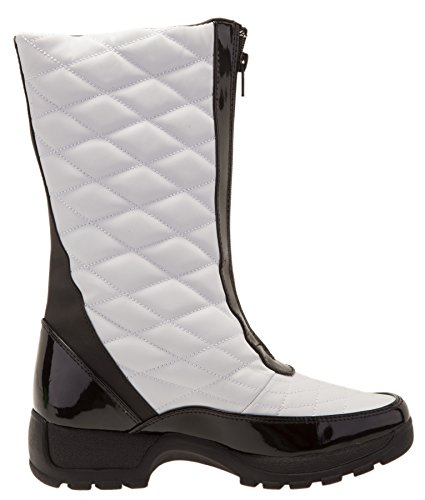 Khombu Dames Dorothy Waterproof Mid Winter Snowboot White