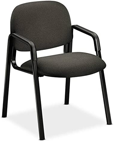 HON 4003AB12T Solutions Seating Leg Base Guest Arm Chair, Olefin, Gray