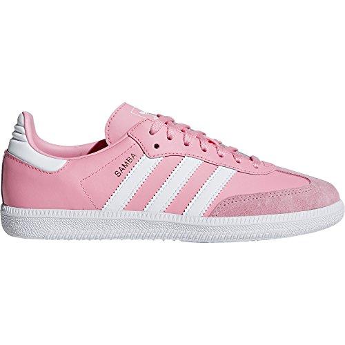 adidas Originals Samba OG J Light Pink Leather 6 M US Big Kid (Adidas Samba Trainer)