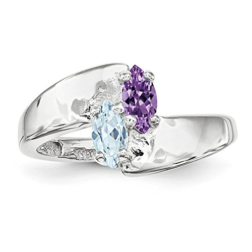 Family Celebration Mountings 14k White Gold Genuine Family Jewelry Ring Size One Size