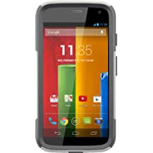 OtterBox COMMUTER SERIES for Moto G (1st Gen ONLY) - Retail Packaging - GLACIER (WHITE/GUNMETAL GREY)