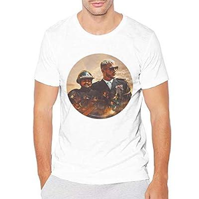 Nanaang DJ Snake Taki Taki Men Short Sleeve Summer Shirt Fitness White
