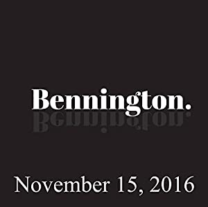Bennington, November 15, 2016 Radio/TV Program