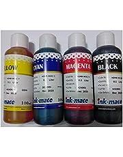 مجموعة احبار أعادة التعبئة لخراطيش الطابعات 4 لون -كل لون 100 ملى