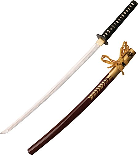 47 Ronin MC-47R002 Officially Licensed Samurai Sword with Ray Skin Handle, Burgundy Fetch Scabbard, 42-1/2-Inch Overall