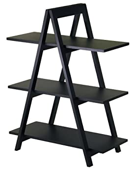 Winsome Wood 20130 Aaron Shelving, Black
