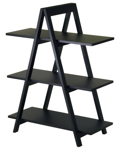 Winsome Wood 3-Tier A-Frame Shelf, Black from Winsome Wood
