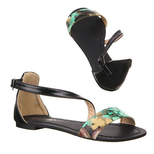 Ital-Design - Sandalias de vestir de Material Sintético para mujer Verde - verde