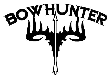 Amazon.com  Outdoor Decals Bowhunter Skull Decal  Sports   Outdoors 691ba2369bc