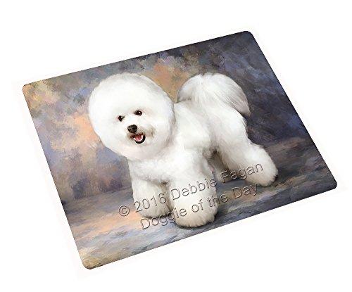 Bichon Frise Dog Portrait - Bichon Frise Dog Art Portrait Print Woven Throw Sherpa Plush Fleece Blanket (60x80 Fleece)