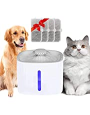 Cat Water Fountain, Arespark Pet Water Fountain, 3L Automatic Cat Water Dispenser with 4 Replacement Filters, Large Tank with LED Indicator, Drink Well for Cats, Dogs, Multiple Pets (Grey)