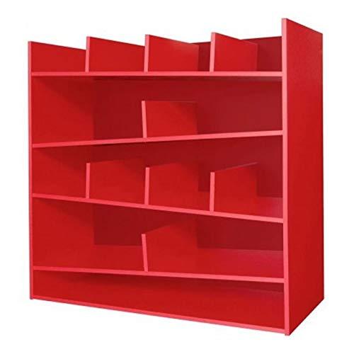 Libreria estanteria roja resistente economica barata mejor precio duradera lacada roja Todo de Rojo