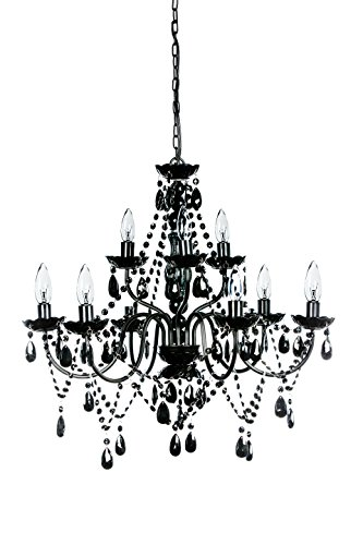 Extra Large Black Color (The Original Gypsy Color Extra Large 9 Light Black Chandelier H27