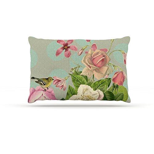 Kess InHouse Suzanne Carter Vintage Garden Cush  Fleece Dog Bed, 50 by 60 , Flowers