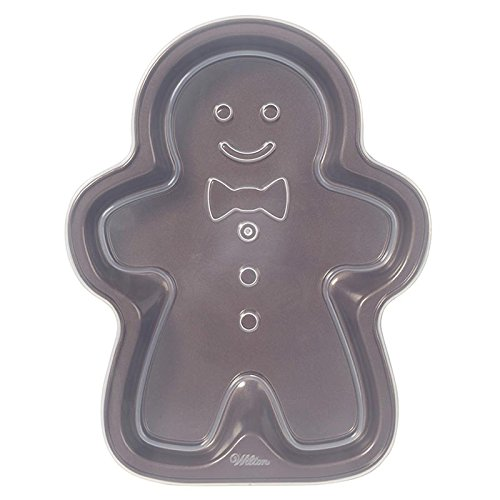 Wilton 2105-0061 Christmas Gingerbread Boy Covered Treat Pan (Wilton Covered Cake Pan)