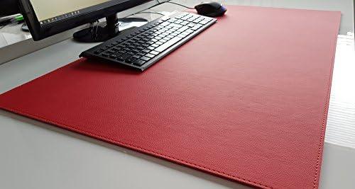 Schreibtischunterlage sanft lux Leder 70 x 50 Rot