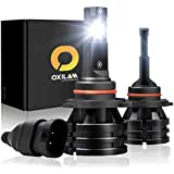 OXILAM [2019 Newest] 9005-LED-Headlight-Bulbs 10,000 Lumens Extremely Bright Mini Design HB3 All-in-One Conversion Kit 6000K White-2 Year Warranty (Pack of 2)