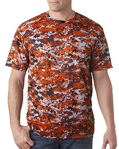 4180 Badger Men's Short Sleeve Sublimated Camo Tee - Burnt Orange Digital - - Short Sleeve T-shirt Badger