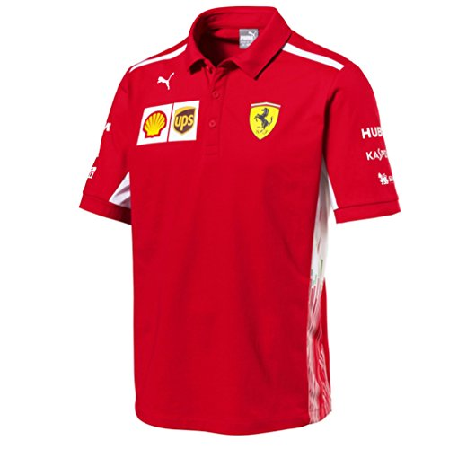 Scuderia F1 Ferrari (Scuderia Ferrari F1 Racing SF Team Puma Polo Shirt Red Official 2018)