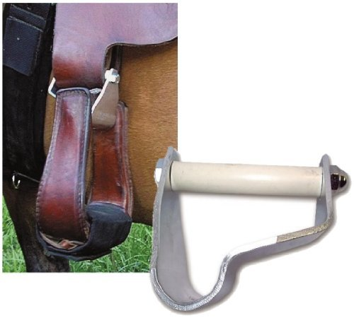 Stirrup Extender - Cashel EZ Knees Horse Show Equitation Western Saddle Stirrup Turner Rotator, Size: 3.0 inches