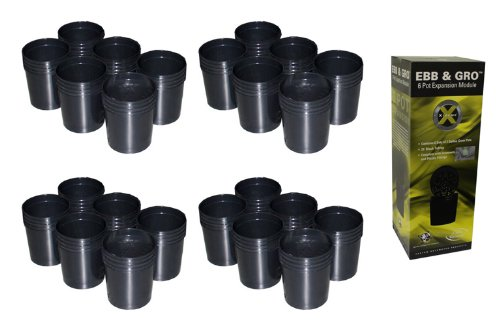 NEW! (4) C.A.P EBB-EXP6 EBB & GRO Grow Flow 6 Pot Site Hydroponic Expansion Kits