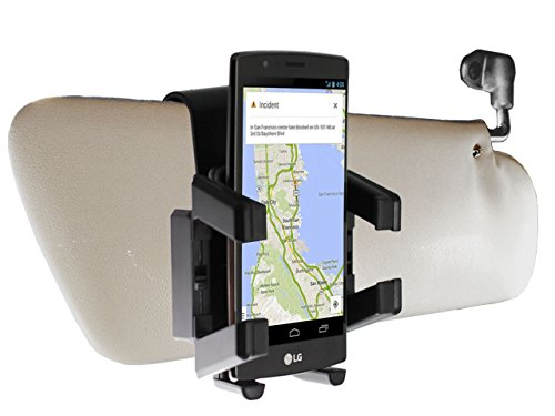 - Navitech Sun Visor Mount/Holder Compatible with The LG V10, LG Joy, LG Leon, LG Spirit, LG Magna