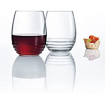 luminarc eminence stemless wine set of 4 17 oz clear wine glasses. Black Bedroom Furniture Sets. Home Design Ideas