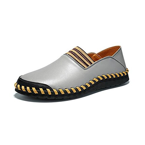 Casual Comfort Summer Split Shoes Shoes Spring Walking Office Loafers Fall HUAN ONS Men's Driving Shoes amp; Joint Gray Slip Fashion Shoes Casual for TnqwantvY