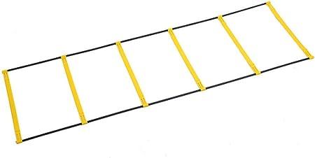 ZMXZMQ Pro Agility Ladder, Escalera De Entrenamiento De Agilidad, Entrenamiento Físico Atlético Al Aire Libre, para Fútbol, Fútbol, Entrenamiento Deportivo, con Bolsa De Transporte: Amazon.es: Hogar