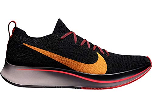 ea93062d93f2a3 Nike Men s Zoom Fly Flyknit Black Flash Crimson Orange Peel Nylon Running  Shoes 11.5 M US