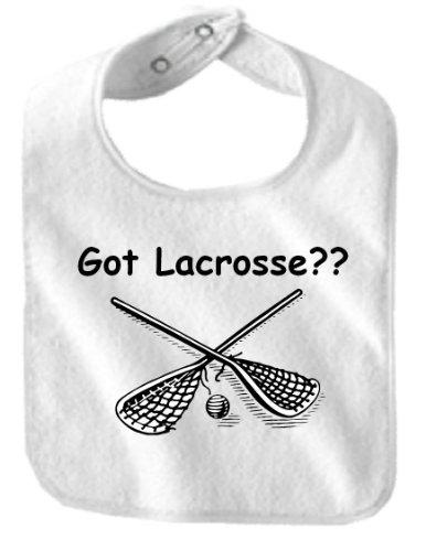 GOT LACROSSE - BigBoyMusic Baby Designs - Bibs - White Bib