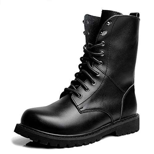 Pelle SHANLY Work Combat Martin Vera Boot Trekking Black Lace Outdoor Stivali Desert Utility Up Casual Calzature Mens Sport In Escursioni Calzature wfqfAY4x