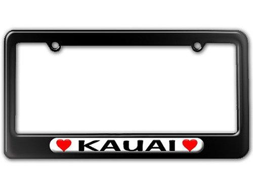 Kauai Hearts License Plate Frame