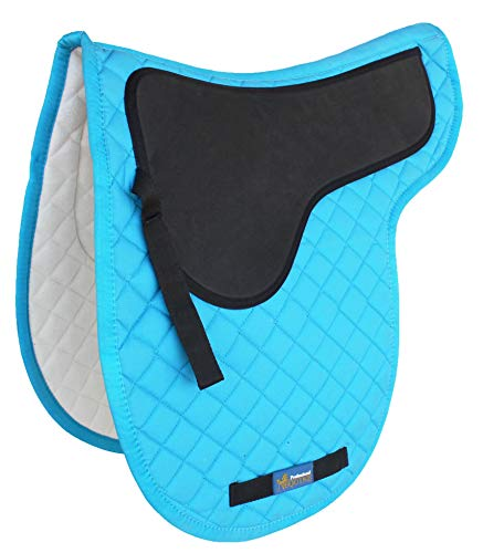 ProRider USA Horse Quilted English Jumping Saddle Pad Contoured Gel Riding Turquoise 72F16