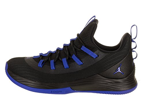 Jordan Nike Heren Ultra Fly 2 Lage Basketbalschoen Zwart / Hyper Royal Wit