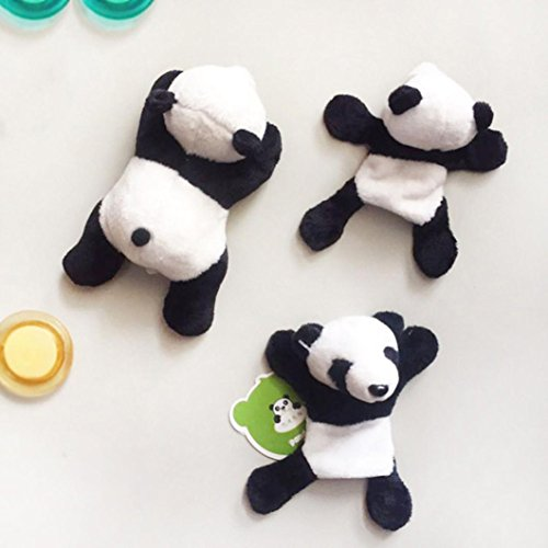 YJYDADA Wall Stickers,1Pc Cute Soft Plush Panda Fridge Magnet Refrigerator Sticker Gift Souvenir Decor,Random