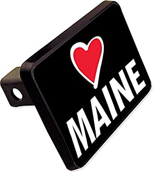 Love Maine Trailer Hitch Cover Plug Funny State Novelty