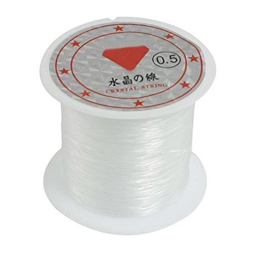 TOOGOO(R) 41Lbs Capacity 0.5mm Diameter Clear Nylon Fishing Line Cord Spool