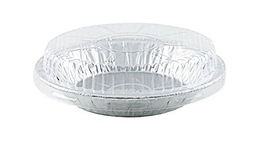 """HFA 6"""" Aluminum Foil Pie Pan 15/16"""" Deep w/Clear Dome Lid..."""