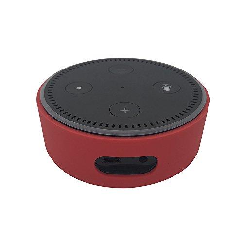 KaariFirefly Silicone Case for Amazon Echo Dot,Silicone Case Station Holder Fit for Echo Dot 2nd Generation (Red)