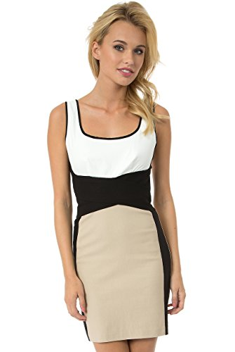 Blend Sheath Dress - Teeze Me Color Block Cross Waist Sheath Dress