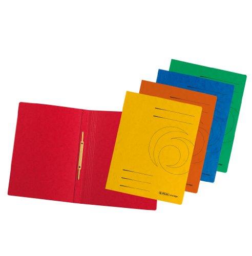 Herlitz A4 Schnellhefter A4 Colorspan farbig sortiert, 10 Stück