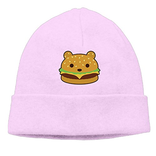 Men/Women Bear Burger Hamburger Hedging Hat Wool Beanies Cap