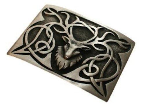 Stunning Scottish Stag Pewter Kilt Trews Belt Buckle Chrome or Antique Finish Pewter Celtic Belt Buckle
