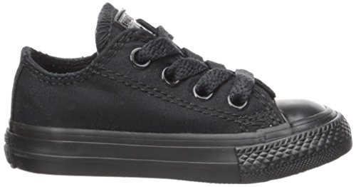 Converse Kids Chuck Taylor All Star Canvas Sneaker Low Top Nero Monocromo