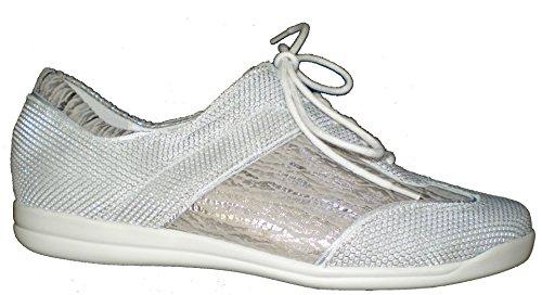 586 Donna Bianco 343003 Argento Sneaker 302 Pietra Waldläufer Horta URwEIxaTRq