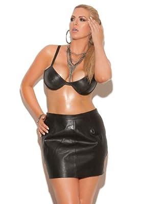 Plus Size Women's Underwire Leather Bra
