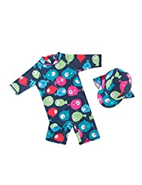 Baby One-Pieces Swimwear Rashguard Swimsuit Long Sleeve Sun Protection Wetsuit with Cap