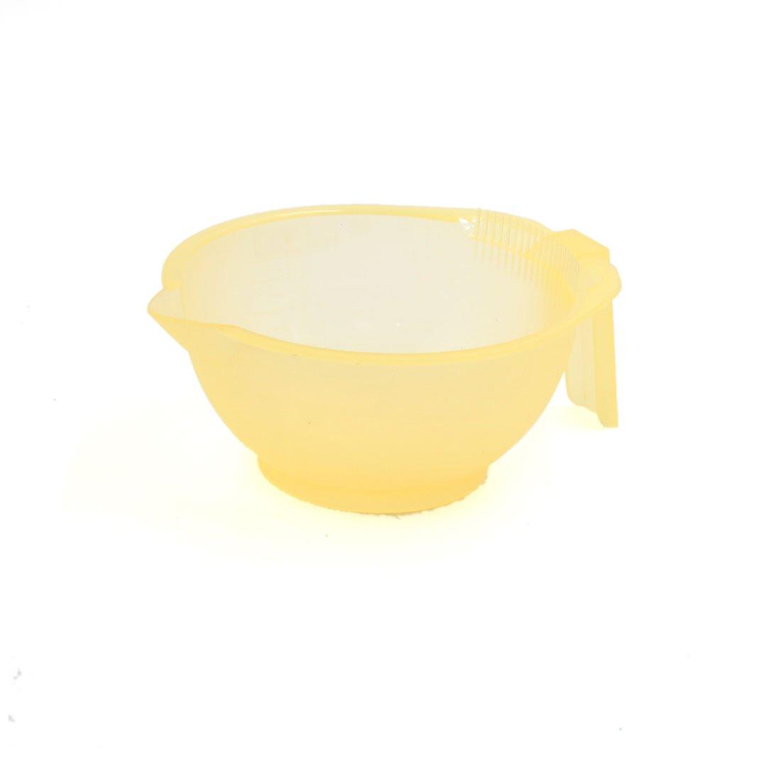 sourcingmap Poignée plastique jaune mélange Bol colorants outil coiffage translucide a17022400ux0301